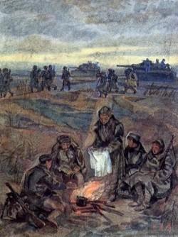 Василий Теркин. Иллюстрация