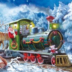 Дед Мороз на паровозе