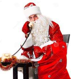 Дед Мороз у телефона
