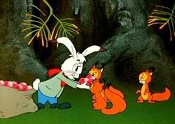 Заяц и бельчата