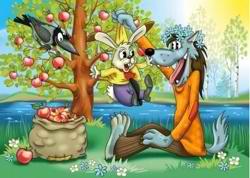 Заяц и волк