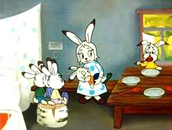 Зайчиха и зайчата