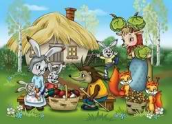 Зайцы с продуктами