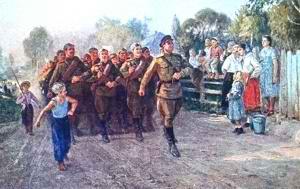 Бравые солдаты с песнями идут