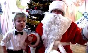 Дед Мороз и зайчик
