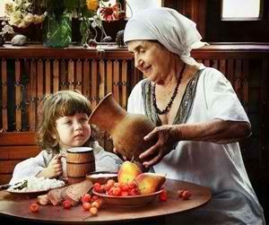 Бабушка и внучка